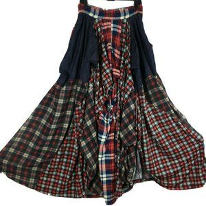 TOV  Holy Los Angeles LA  Damsel Skirt Plaid Maxi